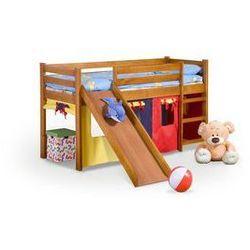 """Łóżko dziecięce """"Fun"""" - z materacem i zjeżdżalnią"""