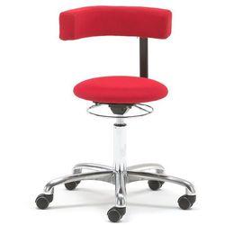Krzesło aktywne TWIST, obrotowe oparcie, tkanina, czerwony