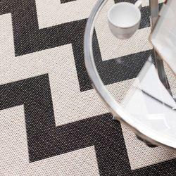 Dekoria dywan modern chevron black/wool 160x230cm, 160x230cm
