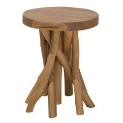 Beliani Stolik kawowy drewno tekowe merritt