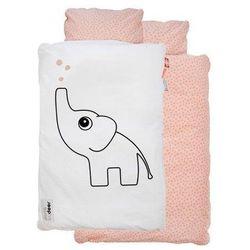 Pościel niemowlęca dots (100x70 + 45x40) - różowa marki Done by deer