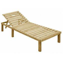 Brązowy leżak ogrodowy drewniany - Sofor, vidaxl_49087