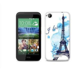 Fantastic case - htc desire 320 - etui na telefon fantastic case - niebieska wieża eiffla wyprodukowany przez