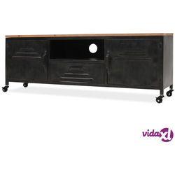 szafka pod telewizor, 120 x 30 x 43 cm, czarna marki Vidaxl