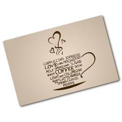 Deska kuchenna szklana Filiżanka kawy Powiedzenia