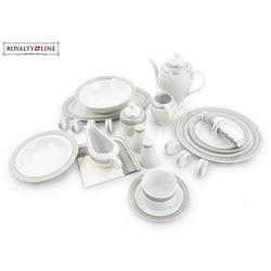 Porcelanowa zastawa stołowa - rl-dws68 silver#2 marki Royalty line