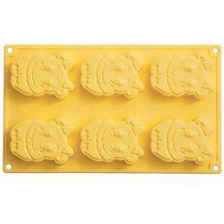 Forma + stempel do 6 ciastek i deserów silikonowa Pavonidea krówka CK05GL8S