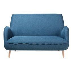 Sofa dwuosobowa tapicerowana niebieska kouki marki Beliani