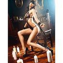 Baci lingerie Przebranie niewolnicy - baci love slave set fishnet black one size czarny (4890808124062)