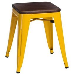 Stołek paris wood żółty sosna orzech marki D2.design