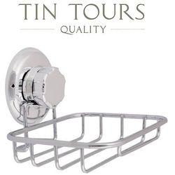 Chromowany uchwyt na mydło/gąbkę 13,2x12,8x10h cm -30% marki Tin tours sp.z o.o.