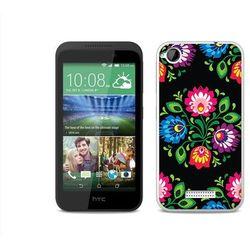 Fantastic Case - HTC Desire 320 - etui na telefon Fantastic Case - czarna łowicka wycinanka, kup u jednego z