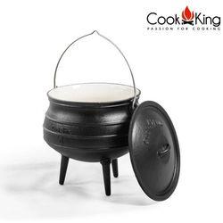 Kociołek emaliowany afrykański żeliwny 13l, CookKing