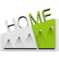 Calleadesign Wieszak na klucze home  biały / zielony