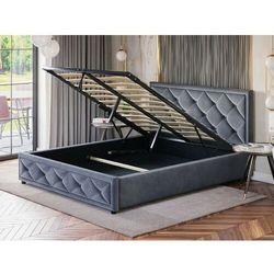 Białe łóżko sypialniane z pojemnikiem 120x200 lb-45 ekoskóra marki Meblemwm