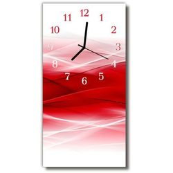 Zegar Szklany Pionowy Sztuka Abstrakcja czerwony, kolor czerwony