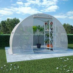 szklarnia ogrodowa, stalowa konstrukcja, 4,5 m², 300x150x200 cm marki Vidaxl
