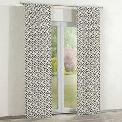 Dekoria Zasłony panelowe 2 szt., szaro-beżowe kwiatuszki na jasnym tle, 60 × 260 cm, Wyprzedaż do -50%