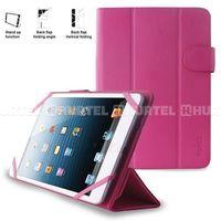 Etui PURO Universal Booklet Easy do 8'' Różowy, kolor różowy