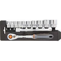 Neo Zestaw kluczy nasadowych  08-653 3/8 cala (12 elementów)
