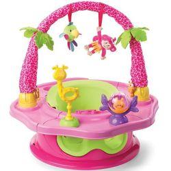 Krzesełko  wielofunkcyjne + pałąk island giggles różowy marki Summer infant