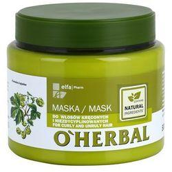 O'herbal O'herbal humulus lupulus maseczka do włosów nieposłusznych i puszących się, kategoria: odżywianie włosów