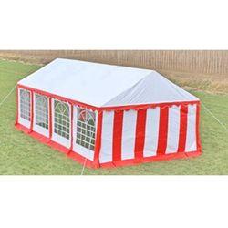 Vidaxl  pawilon ogrodowy 8x4m (dach+penele boczne), czerwono-biały
