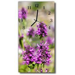 Zegar Szklany Pionowy Kwiaty Natura kolorowy, kolor wielokolorowy