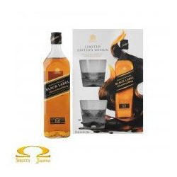 Whisky Johnnie Walker Black Label 0,7l Limitowana Edycja + 2 szklanki (alkohol)