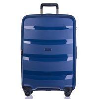 Średnia walizka PUCCINI PP012 Acapulco granatowa - granatowy