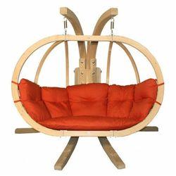 Czerwony fotel wiszący na taras - parys 3x marki Producent: elior