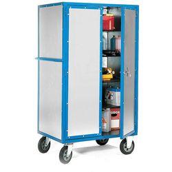 Zamykana szafa warsztatowa, na kółkach, 1000x700x1790 mm marki Aj produkty