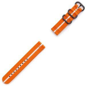 Samsung Gear Sport Premium Nato Strap GP-R600BREECAG Orange-white, kolor biały