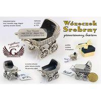 WÓZECZEK SREBRNY - Pamiątka Chrztu Świętego - srebro - wzór SRB009