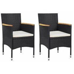 Zestaw polirattanowych krzeseł ogrodowych - ella marki Elior