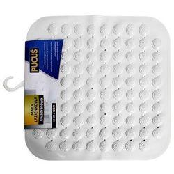 Mata łazienkowa kwadratowa biała 41 x 42 cm