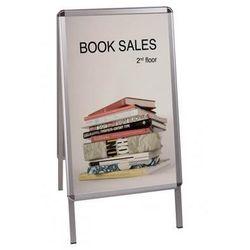 Bi-office Tablica reklamowa , 59,4x84,1cm, podłogowa, dwustronna, biała
