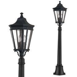Elstead Zewnętrzna lampa stojąca cotswold lane fe/cotsln4/m bk  feiss oprawa ogrodowa słupek latarnia ip44 outdoor czarny, kategoria: lampy ogrodowe