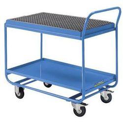 Eurokraft Wózek stołowy, z wanną wychwytową, rusztem kratowym i kurkiem spustowym, jasnoni