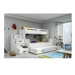 Łóżko mariusz z 3 osobowe materacami marki 30