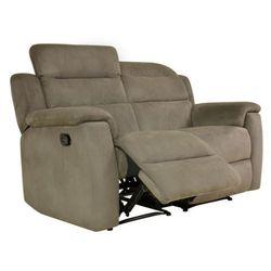 Sofa 2-osobowa typu relaks simono z mikrofibry– kolor taupe marki Vente-unique
