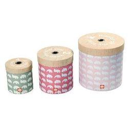 Pudełka DONE BY DEER 50507 Okrągłe Różowy (3 sztuki) + DARMOWY TRANSPORT!
