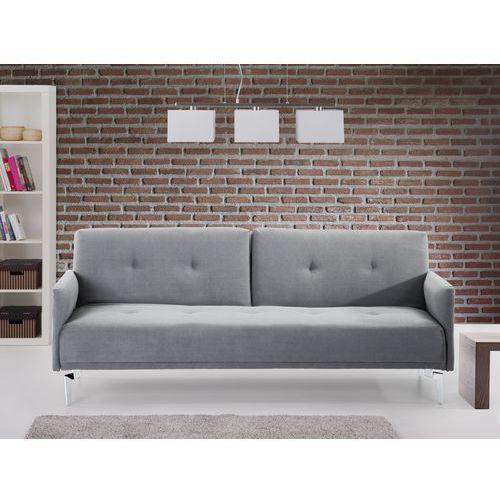 Sofa do spania - kanapa rozkladana - szary - Lucan, Beliani z Beliani