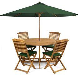 meble ogrodowe holly + poduszki + parasol, zielone wyprodukowany przez Fieldmann
