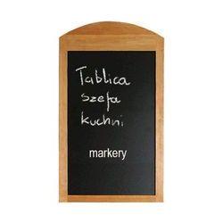 Lemi Tablica reklamowa 500x860 mm szefa kuchni bukowa
