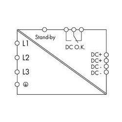 Zasilacz na szynę DIN WAGO 787-844/000-002, 40 A, 960 W, towar z kategorii: Transformatory