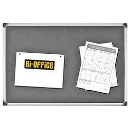 Bi-office Tablica filcowa , 60x90cm, szara (5603750354284)