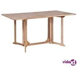 Vidaxl składany stół jadalniany z drewna tekowego, 150 x 90 x 75 cm