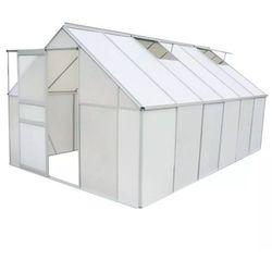 Vidaxl szklarnia z poliwęglanu i aluminium, 430x250x195 cm (8718475504955)