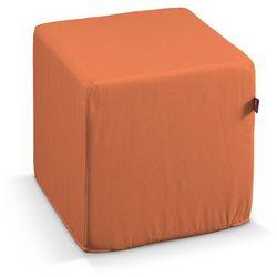 pufa kostka twarda, pomarańcz, 40x40x40 cm, jupiter marki Dekoria